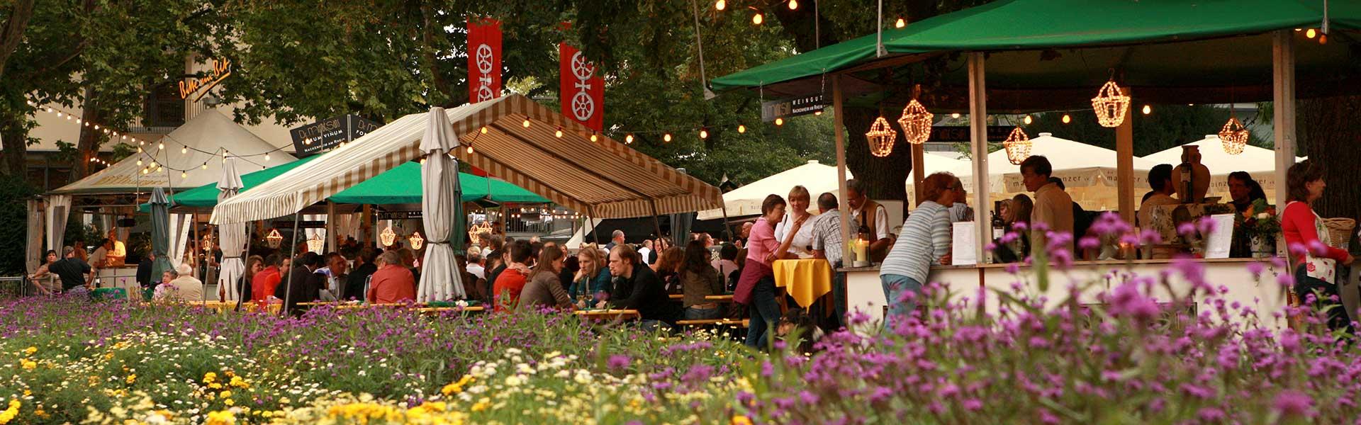 Romantische Weinidylle im Stadtpark